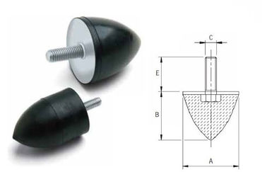 चीन Anti Vibration Conical Rubber Shock Absorber Rubber Dampers High Elasticity आपूर्तिकर्ता