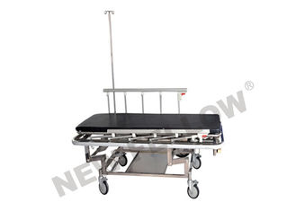 चीन Hospital 3 Crank Stainless Steel Patient Transfer Stretcher Trolley Medical Instrument आपूर्तिकर्ता