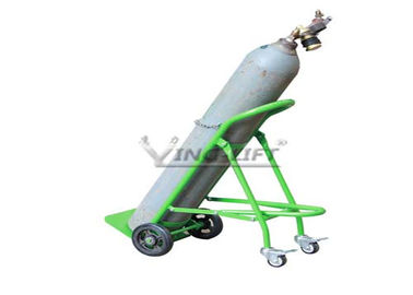 चीन Fold Down Single Double Gas Cylinder Hand Truck Trolley With Restraining Strap फैक्टरी